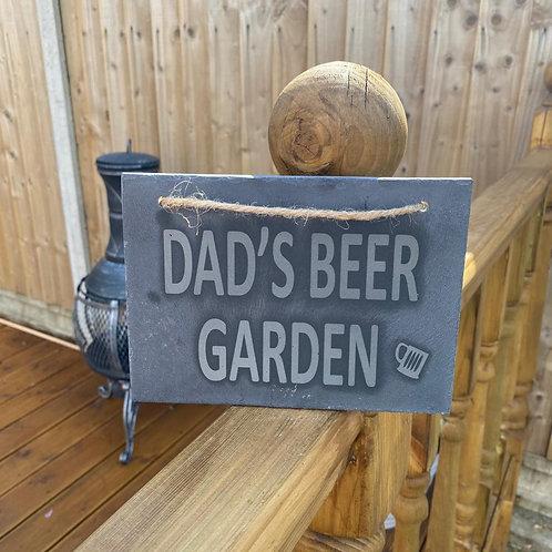 Dad's Beer Garden Slate Sign