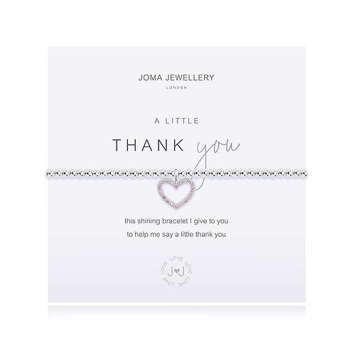 Joma A Little Thank You Heart Bracelet