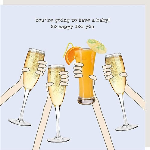 Having A Baby Cheers Card