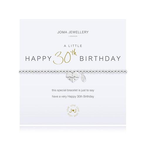 Joma A Little Happy 30th Birthday Bracelet
