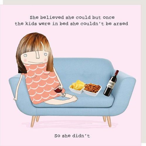 She Believed She Could But Kids Card