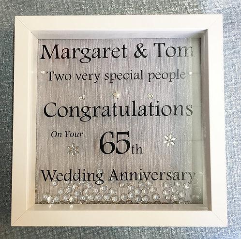 'Congratulations' Custom Vinyl Box Frame