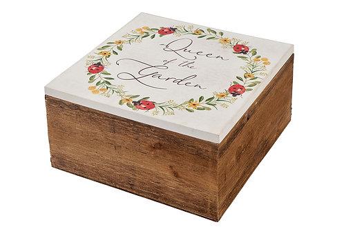 Queen of The Garden Wooden Box