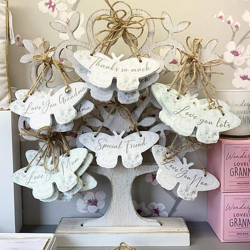 Butterfly Sentiment Hanger