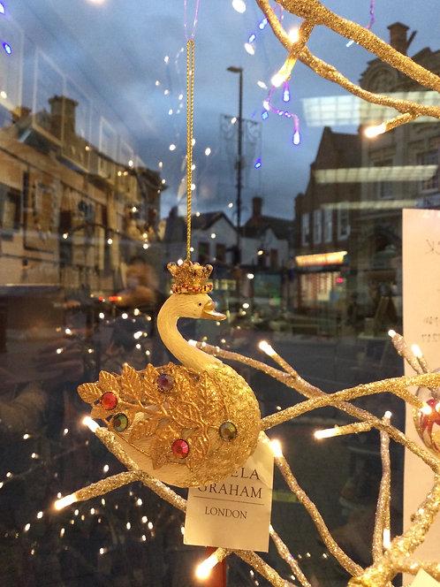 Glorious Swan Resin Decoration
