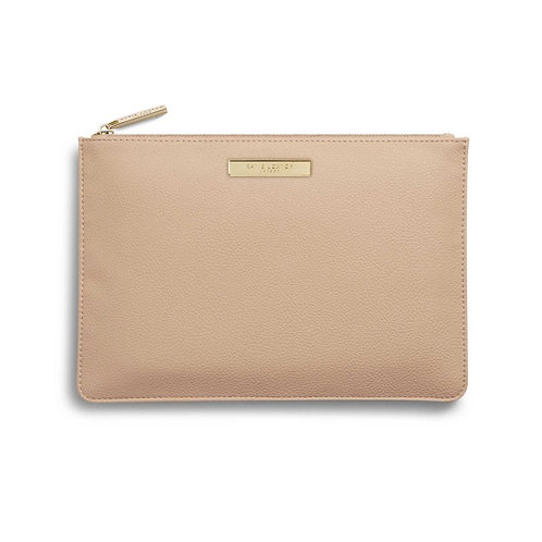 Katie Loxton Tan Soft Pebble Perfect Pouch