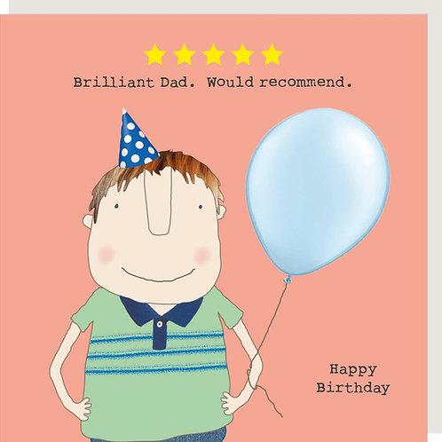 Brilliant Dad Birthday Card