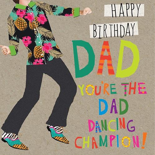 'Happy Birthday Dad - Dancing' Card