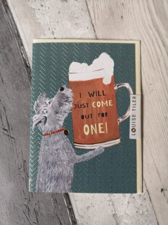 Just For One - Dog and Pint Design