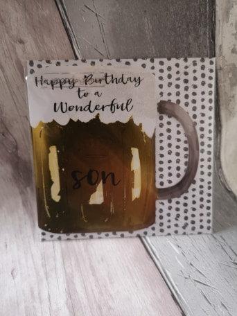 Wonderful Son - Beer Glass Card