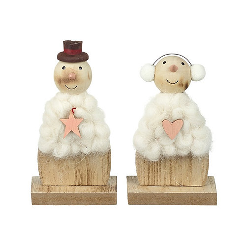 Wooly Standing Snowman