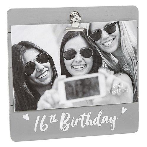 16th Birthday Clip Frame