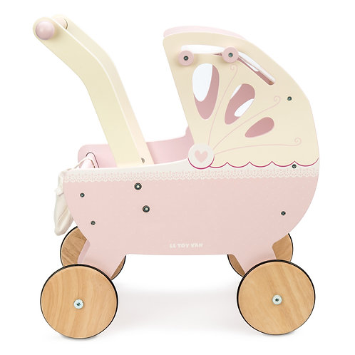 Le Toy Van Sweetdreams Pink Dolls Pram