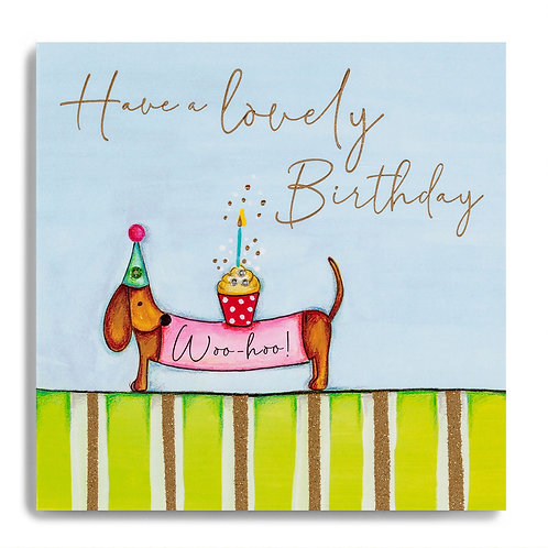 Lovely Birthday - Sausage Dog Card
