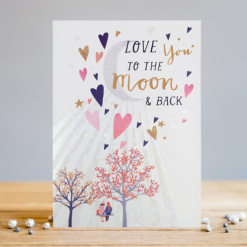 Love You To Moon Card