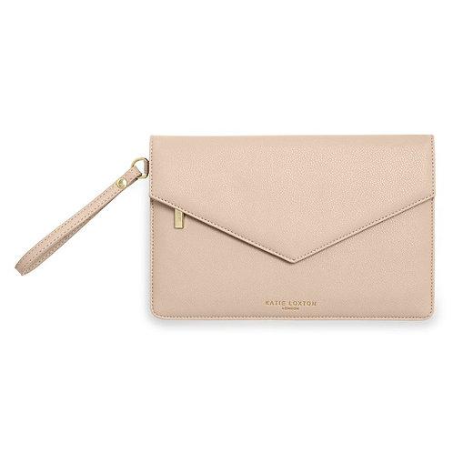 Katie Loxton Nude Pink Esme Envelope Clutch Bag