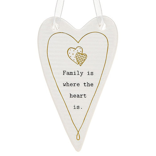 Family Ceramic Hanging Heart