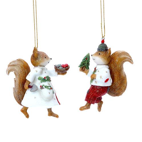 Mr Squirrel Hanging Ornament