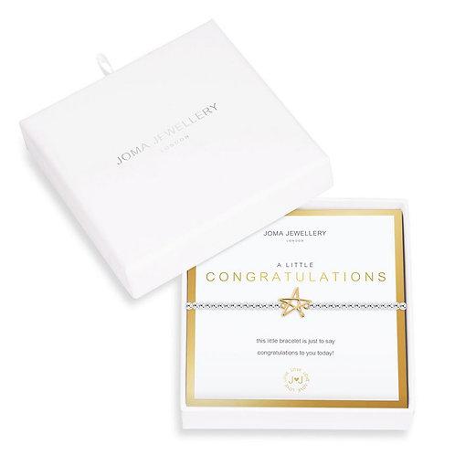 Joma A Little Congratulations Bracelet Boxed