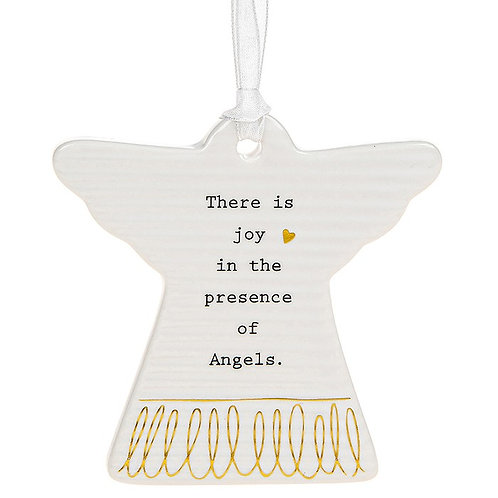 There Is Joy Ceramic Hanging Angel