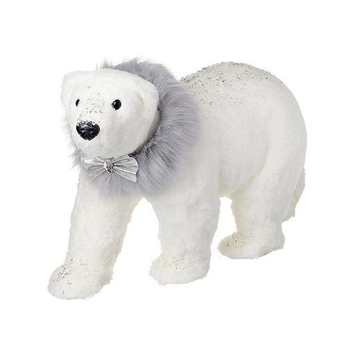 Polar Bear With Fur Scarf