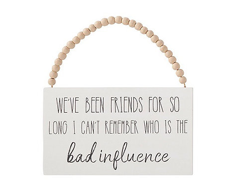 We've Been Friends Rectangle Hanging Sign