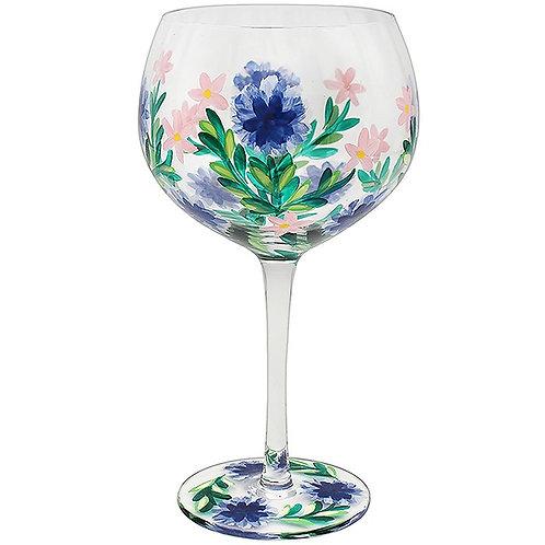 Handpainted Cornflower Gin Glass