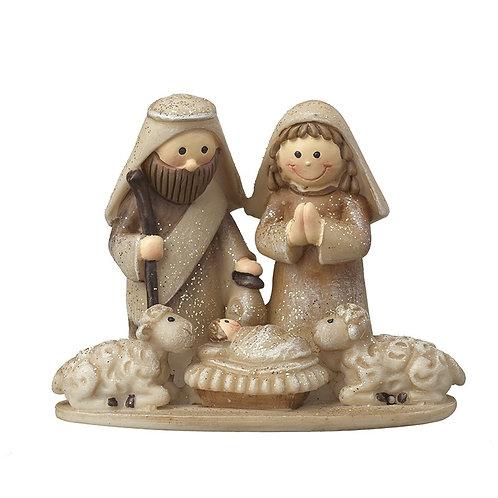 Mary and Jospeh Nativity Scene Ornament