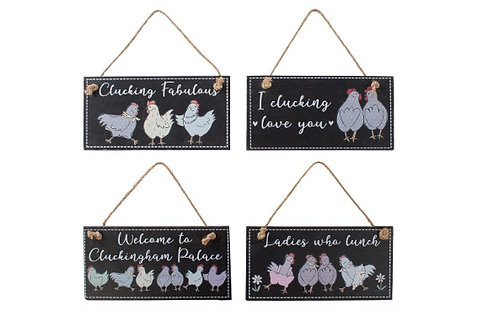 Chicken Slate Plaques Assorted