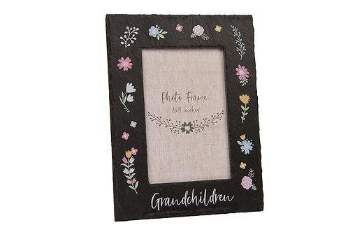 Grandchildren Slate Frame