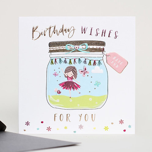 Birthday Wishes Little Dancer Design Card