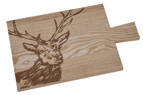 Woodland Stag Wooden Serving Board