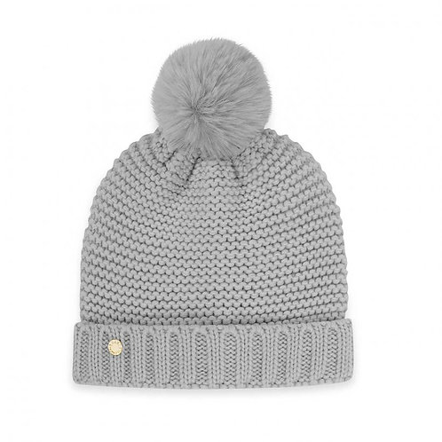 Katie Loxton Grey Chunky Knit Hat