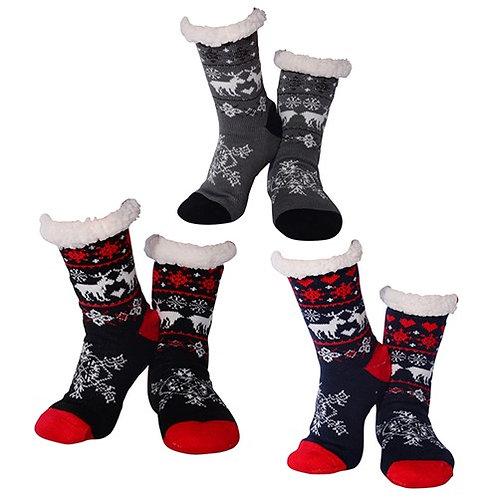 Mens Reindeer Nuzzles Slipper Socks
