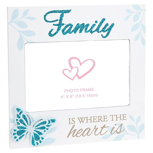 Family Butterfly Photo Frame 6x4