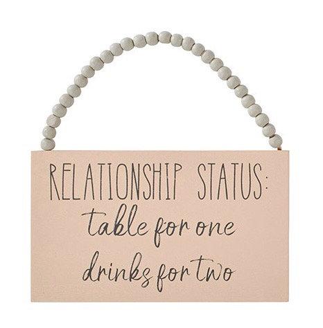 Relationship Status Rectangle Hanging Sign