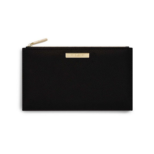 Katie Loxton Black Alise Soft Pebble Fold Out Purse