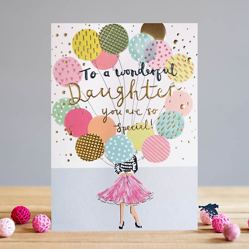 Daughter Birthday Balloons Card