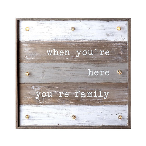 Family LED Wooden Sign