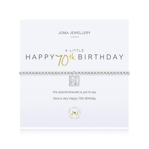 Joma A Little Happy 70th Birthday Bracelet