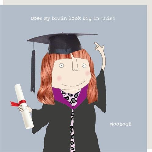 Graduation Brain Look Big Card