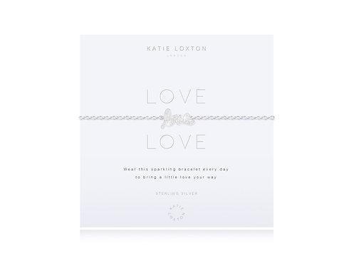 Katie Loxton Sterling Silver 'Love' Pave Bracelet