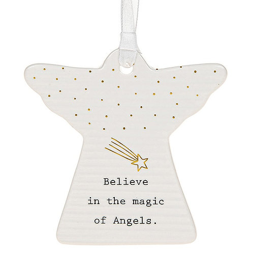 Magic of Angels Ceramic Hanging Angel