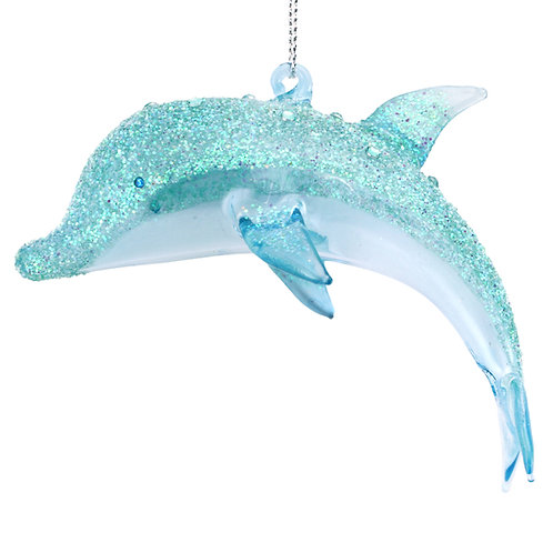 Hanging Glass Dolphin