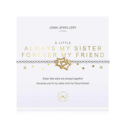 Joma A Little Always My Sister Forever My Friend Bracelet