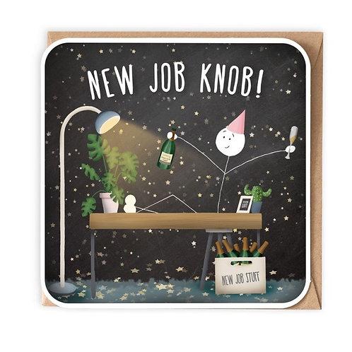 New Job Knob Greeting Card
