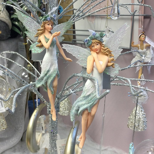 Pale Green and White Fairy Decoration