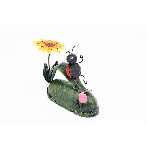 Ladybird On Slide Metal Garden Ornament
