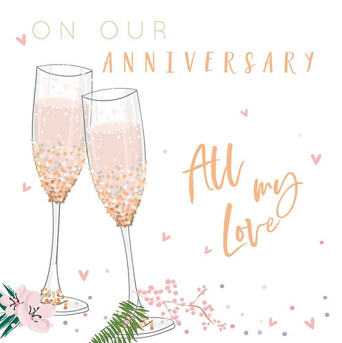 On Our Anniversary Card - Flute Design