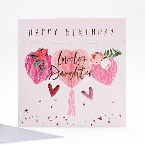 Lovely Daughter Birthday Card